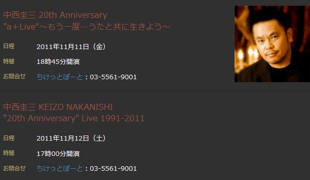 中西圭三 20th Anniversary